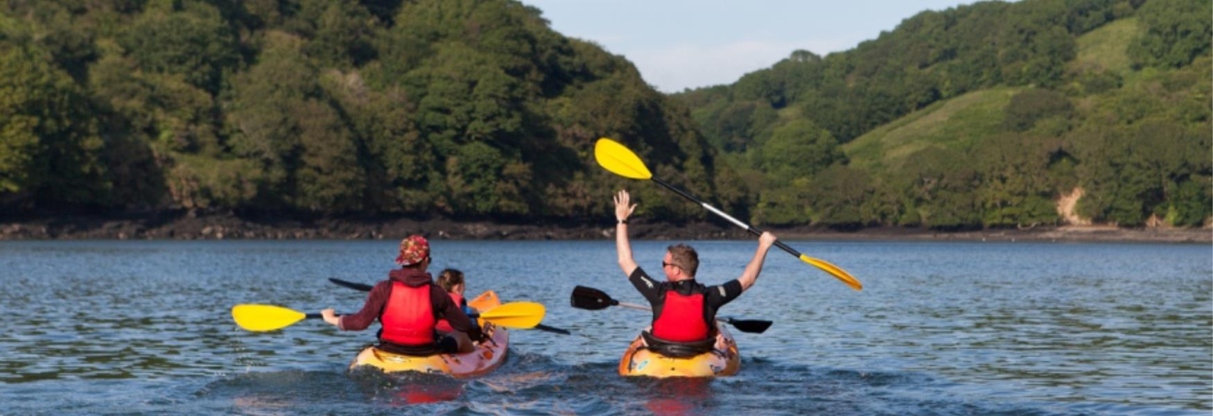 Explore the estuary in a rented kayak (c) Fowey River Hire