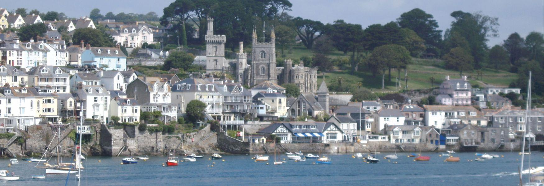 A view of Fowey from the river